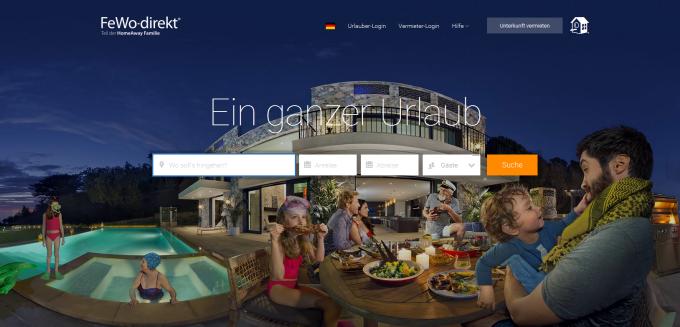 Die FeWo-direkt-Startseite: Sie können ab sofort Ihre Ferienwohnung in der Sächsischen Schweiz ganz bequem online buchen und bezahlen.